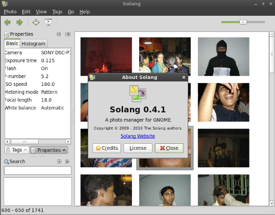 Screenshot of Solang 0.4.1