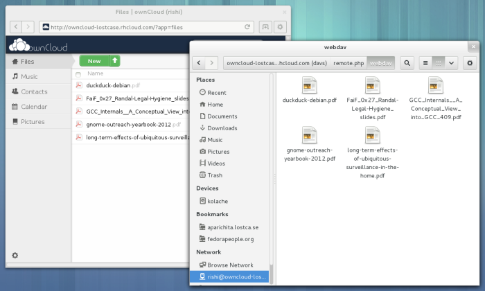 ownCloud files in Nautilus